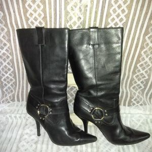 Michael by Michael Kors All Leather alf High Boots